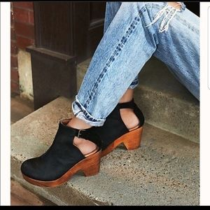 Free People Amber Orchard Black Clogs